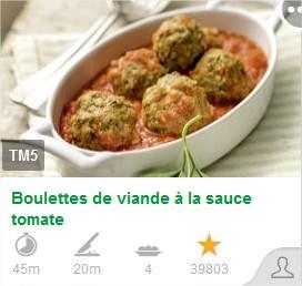 Boulettes de viande à la sauce tomate - Copie