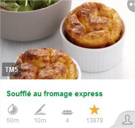 Soufflé au fromage express - Copie